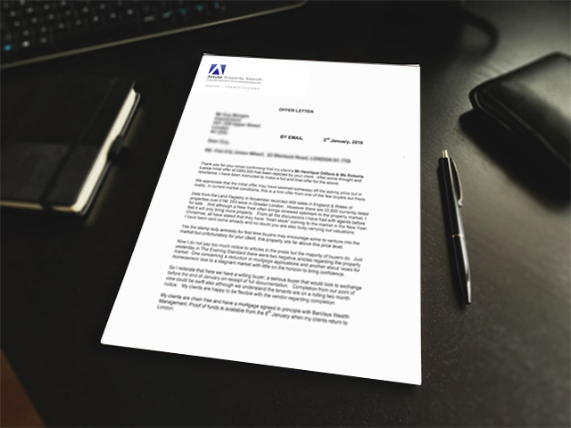 R & H offer letter